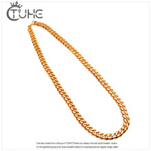 Punk 100CM Long Miami Cuban Link Chain Men's Hip Hop Necklace With 12MM 10MM 8MM Wide Men Gold Chain Collar Gold Filled Jewelry(China)