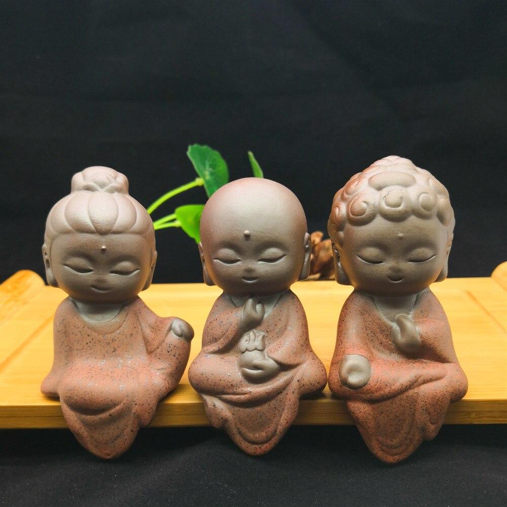 Enfeites de Barro Buda Tathagata Estátua Estatueta Monge Índia Yoga Mandala Roxo Decoração Cerâmica Artesanato Roxo Decorativo