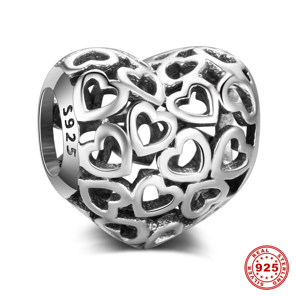 Infinite Love European Beads 100% 925 Sterling Silver European Charm DIY Jewellery Charms for Jewelry Making Wholesale Vnistar