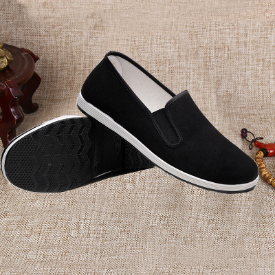Black Breathable Wing Chun Kung Fu Shoes Bruce Lee Vintage Chinese Tai Chi Cotton Cloth Shoes Martial Arts Footwear