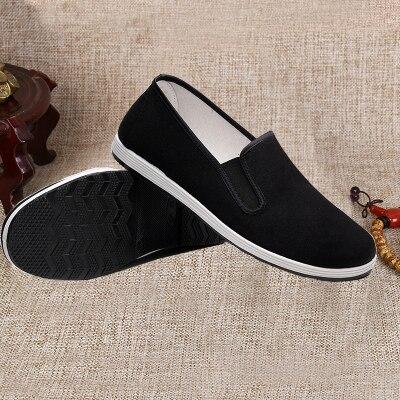 Preto Respirável Chun Kung fu Sapatos Bruce Lee Vintage Chinês Tai Chi Algodão Pano Artes Marciais Calçado Asa