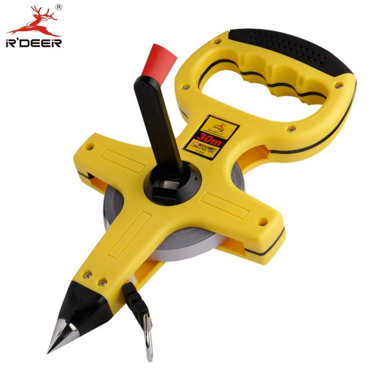 RDEER Tape Measure 30m/50m Stadiometer Metre Measuring Rulers Stainless Steel Tape Construction Tools 1pc  цены