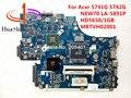 Para acer 5741g 5742g laptop motherboard new70 la-5891p hd5650/1 gb mbtvh02001 hm55 100% testado navio rápido