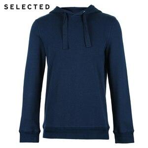 Image 5 - Seleccionado de los hombres 100% Jersey de algodón Color puro Sudadera con capucha cordón sudaderas con capucha ropa S