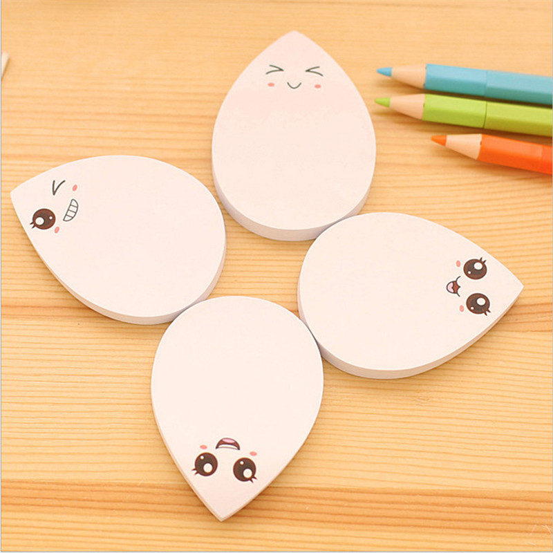 Mini DIY Water Drop Smile Face Memo Pad Sticky Label Post It School Sticky Note For School Office Supplies Stationery