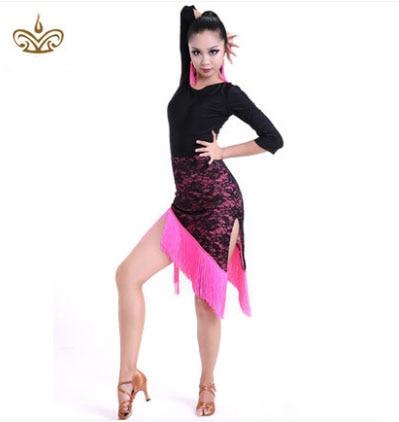 Latin Dance Dress Femei Sexy Ballroom Tango Dance Fusta Fete tanzrock - Arte, meșteșuguri și cusut
