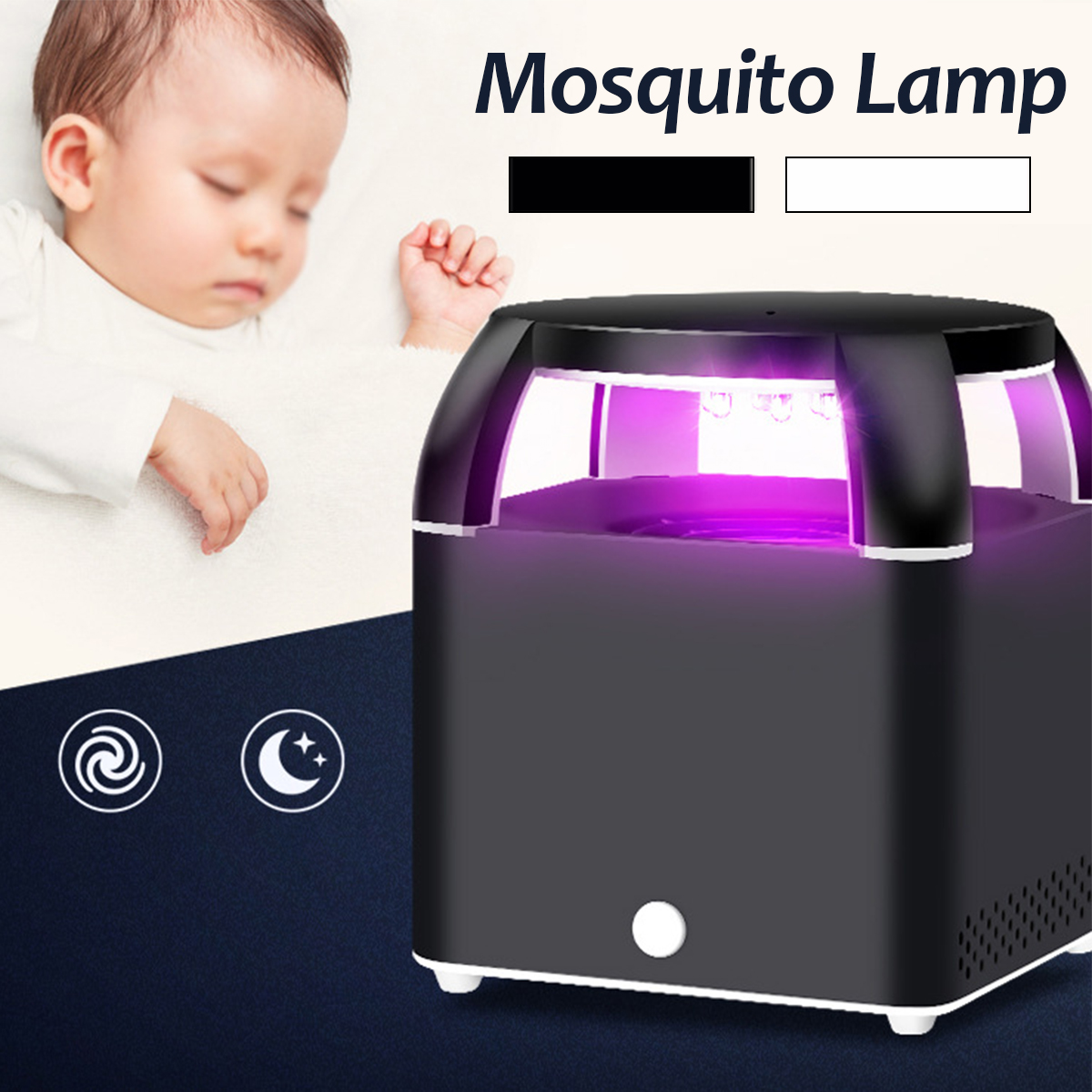 USB Photocatalys Mosquito Killer Lamp Led Night Light Wasp Repellent Electronic Pest Control Fly Bug Trap Insect Repeller Zapper