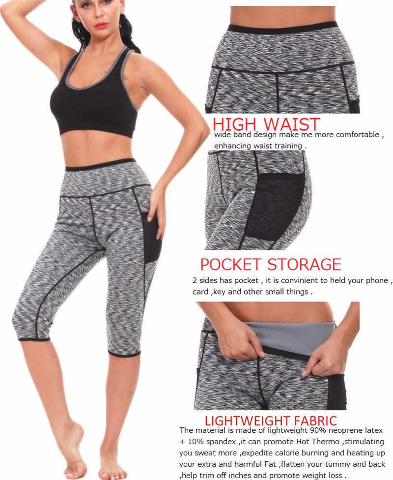 759b5bd39e19b ... NINGMI Hot Shaper Long Vest + Short Pant Women Neoprene Sauna Suit  Shirt Legging Slim Fitness ...