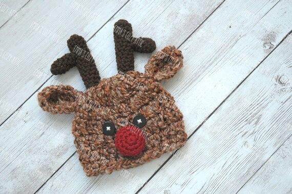 Baby Reindeer Hat Reindeer Hat Christmas Hats Newborn