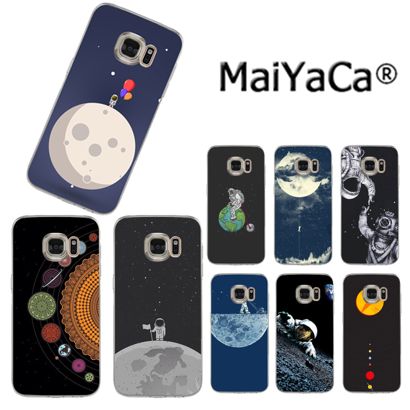 Aggressive Maiyaca Space Love Moon Astronaut Pattern Luxury Accessories Case For Samsungs3 S4 S5 S6 S6edge S6plus S7s7edge S8s8plus On Sell To Win Warm Praise From Customers Cellphones & Telecommunications