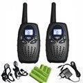 2 unid radio PMR 446 walkies talkies de largo alcance negro par T628 UHF cb jamón radios interphone 1 W con monitor de $ number canales función VOX