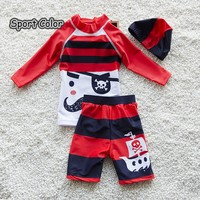 New Design Red Kids Swimsuit Quality Boys Swimwear Teenagers Two pieces Lovely Infant Bath Suit Children Beachwear 2 10years