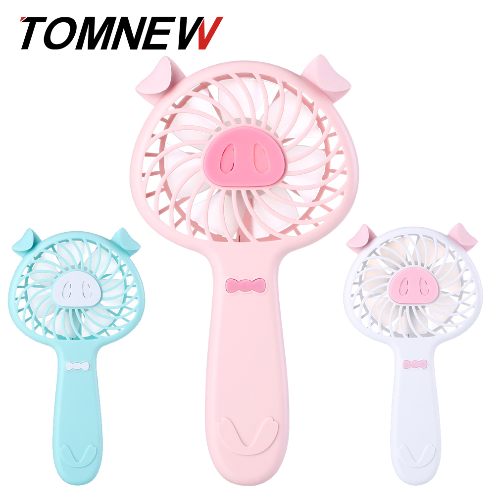 TOMNEW Mini USB Portable Cooling Fan 1200mA Battery Operated 3 Speed Aromatherapy Desk Hand Piggy Fan for Home Office Outdoors