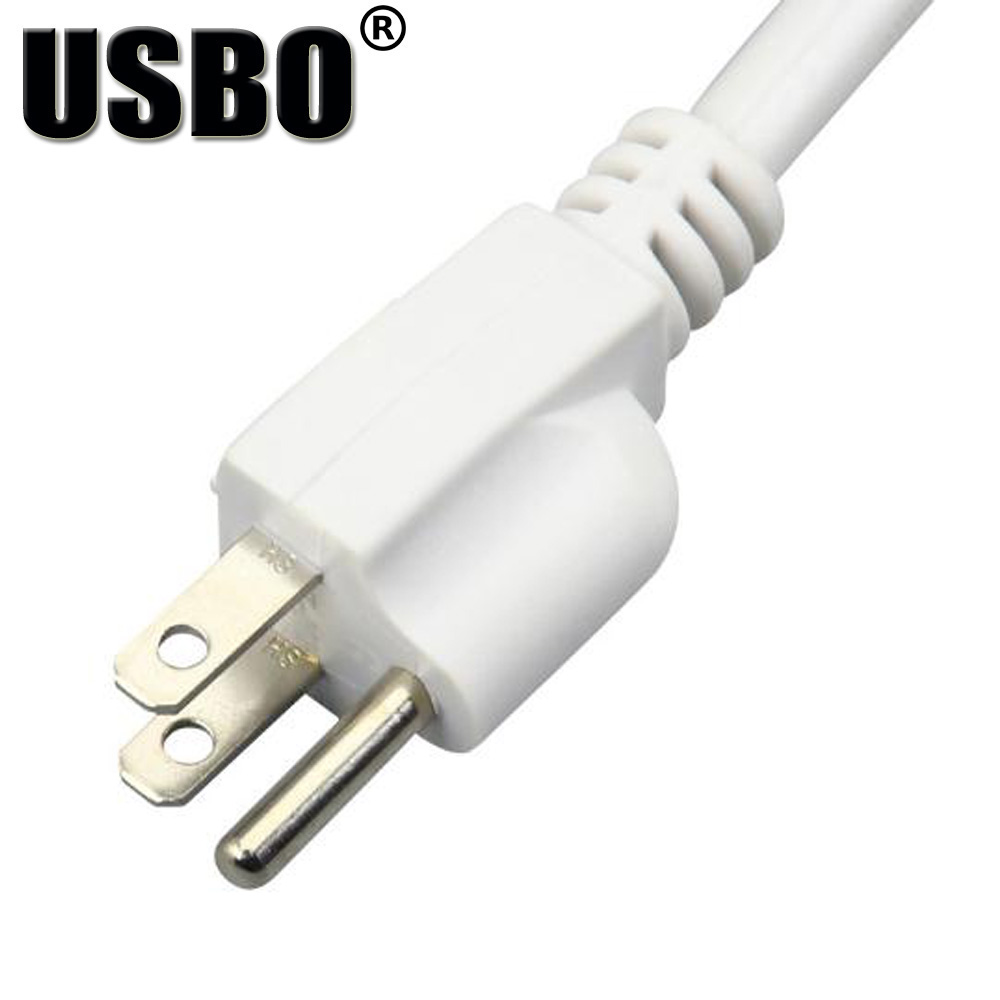 White 125V 15A 5 jack American power adaptor outlet strip US 1.5M double USB  wiring board extension socket power cord converter -in International Plug  ...