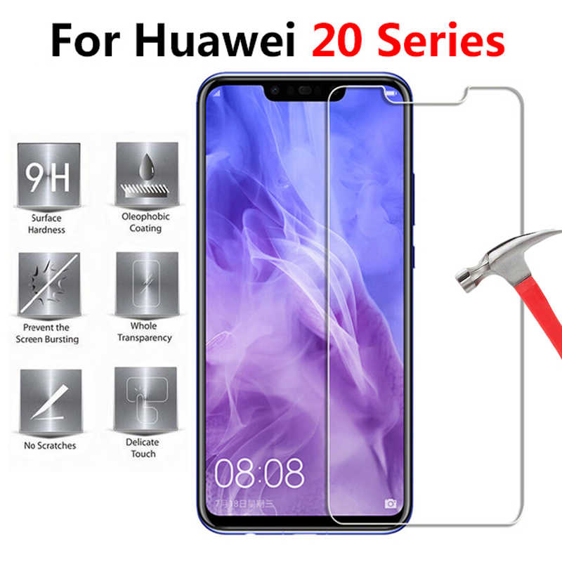 On the For Huawei mate p20lite Protective Glass p20 lite 20 Light Mate20 20lite pro Tempered Glas Phone Screen Protector Hawei