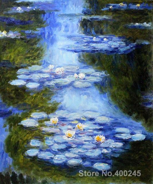 Leinwand gemälde Seerosen (blau grün) Claude Monet Kunst ...