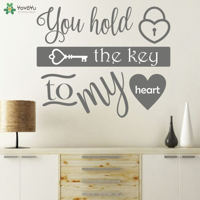 Romantic Wall Sticker Special Design Poster Quotes You Hold The Key