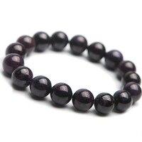 Genuine Natural Sugilite Stone Bead Women Charm Jewelry Bracelet 12mm