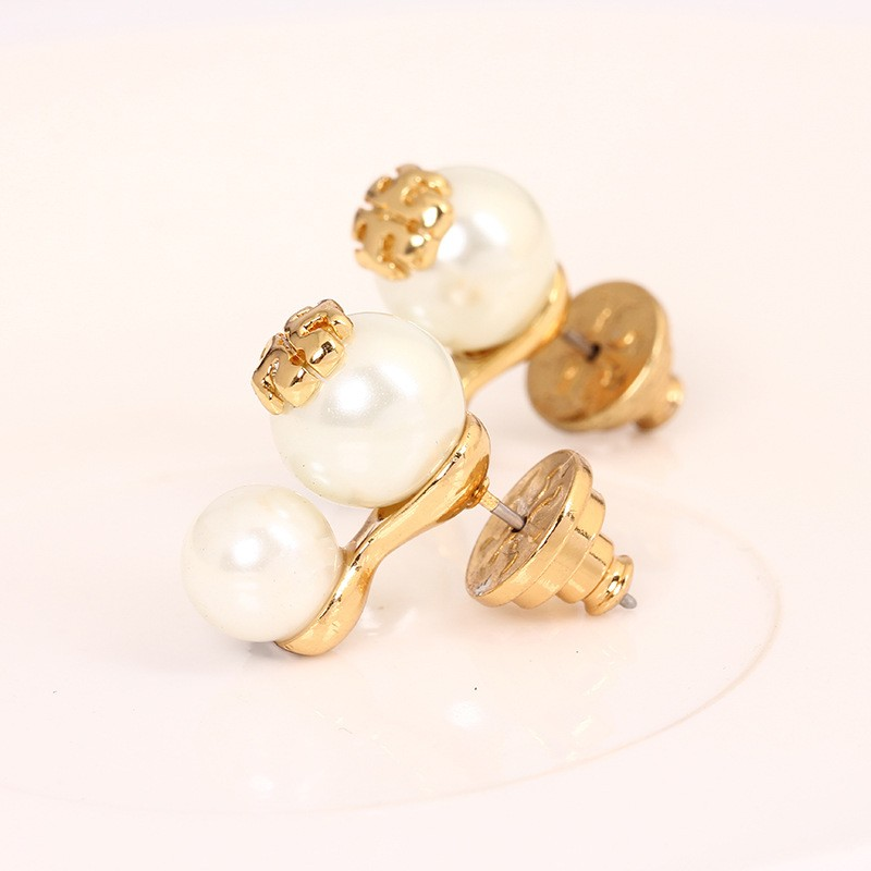 French Earrings Ear Studs For Lady Enamel Pearl Luxury Jewelries Top Quality Pop Accessories New Arrival Wholesale