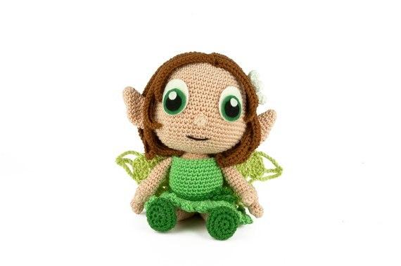 Crochet Armigurumi Rattle   Doll  Model Number 740
