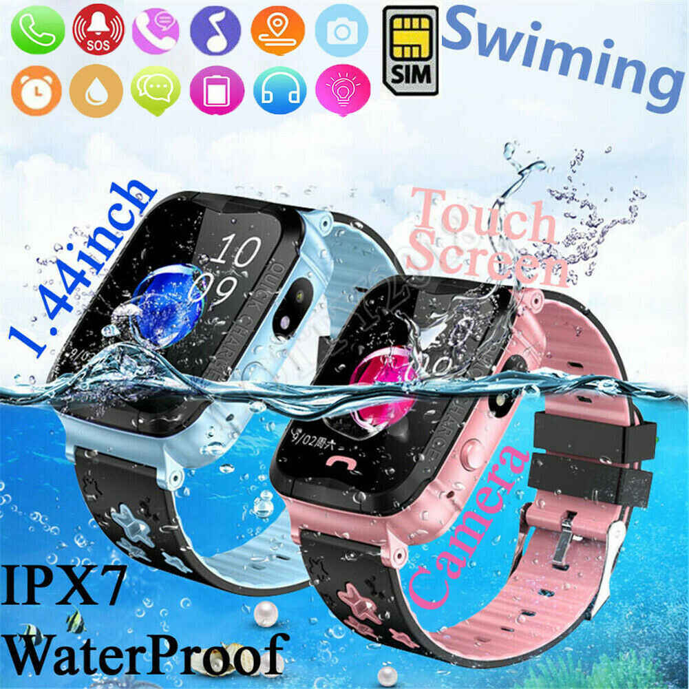 Anti-Lost Kids GPS Tracker Smart Watch GPS GSM Pelacak Layar Sentuh Tracker SOS Anak Tahan Air Smart gelang