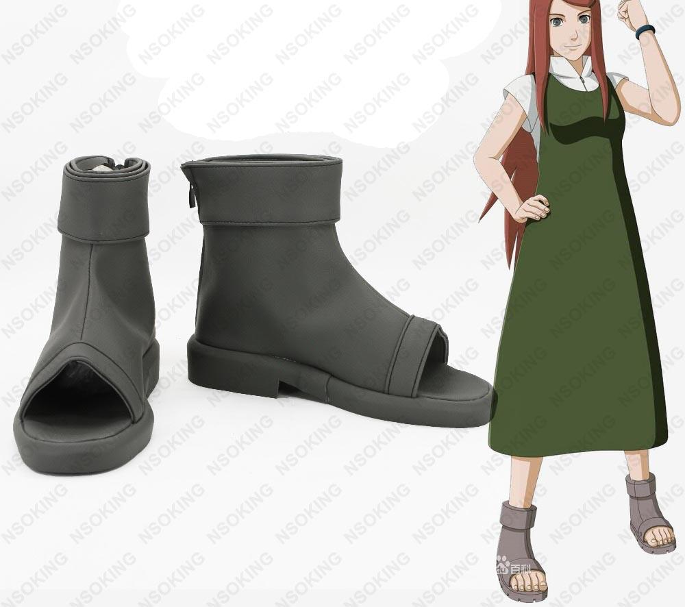 New Naruto Uzumaki Kushina Cosplay Boots masashi kishimoto Anime Shoes Custom Made