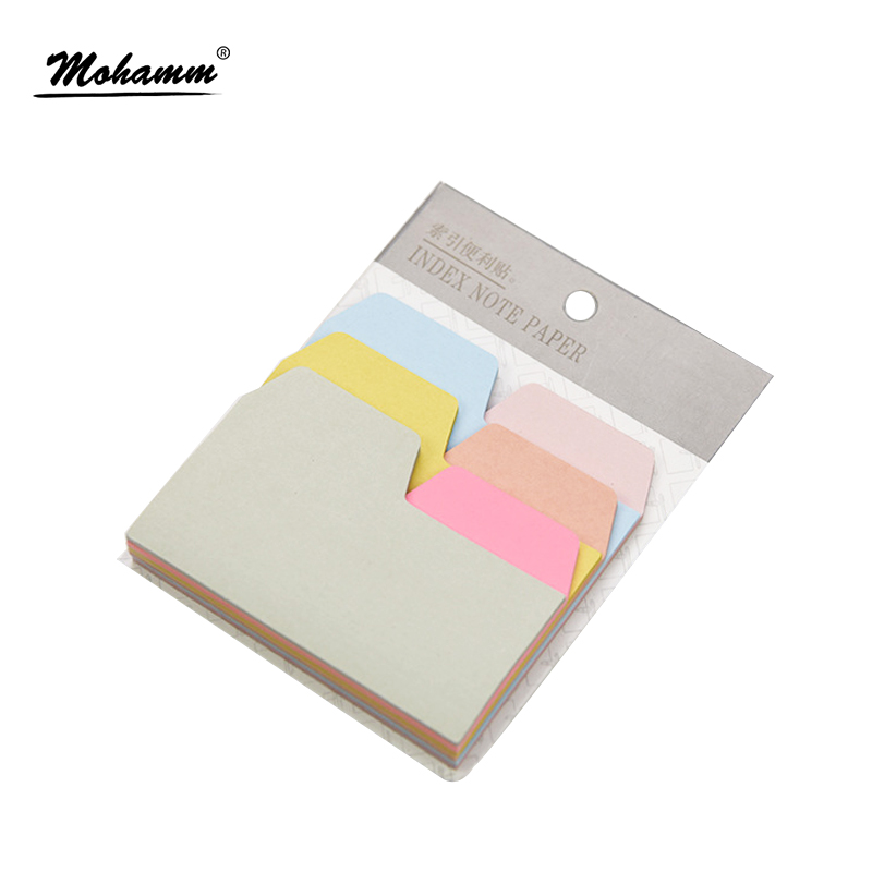 6 Colors 90 Sheets Writable Index Note Paper Sticky Notes Post It Memo Pad Stationery Office Accessory School Supplies чехол для планшета it baggage для memo pad 8 me581 черный itasme581 1 itasme581 1