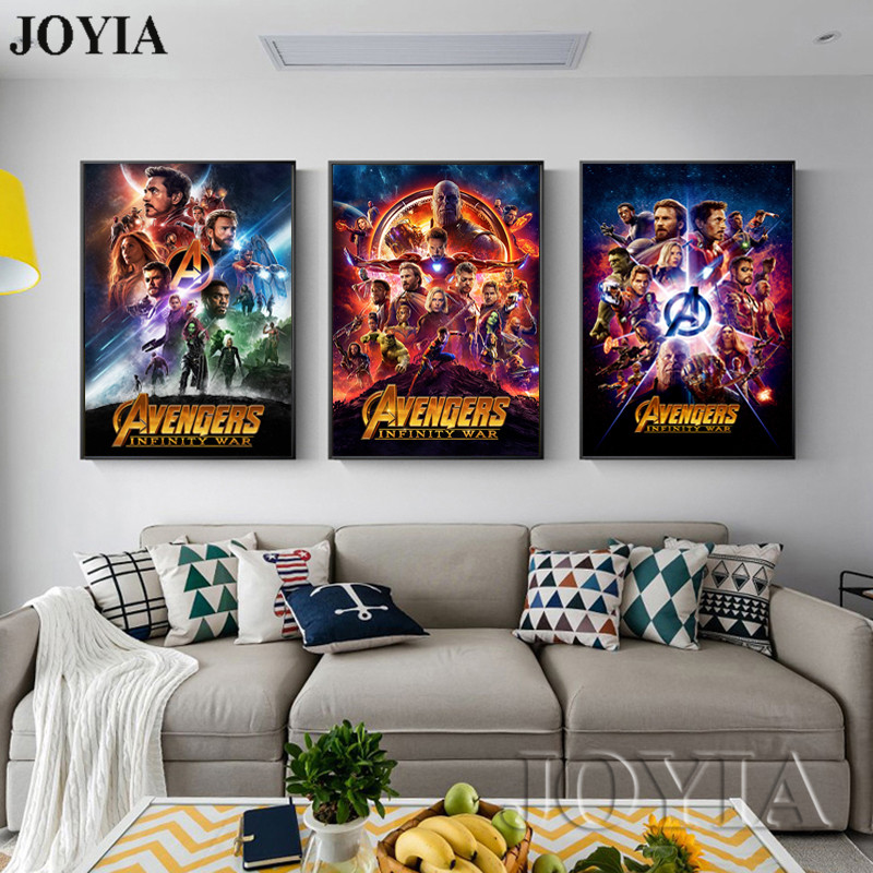 Marvel Poster Avengers Infinity War Movie Posters Superhero Canvas Wall Art Pictures Bedroom Home Living Room Decor Film Prints Buy At The Price Of 4 79 In Aliexpress Com Imall Com