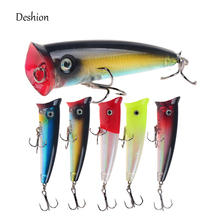 Deshion Topwater Popper 1PC Fishing Lure 10g 70mm Hard Bait Floating Baits Wobblers China