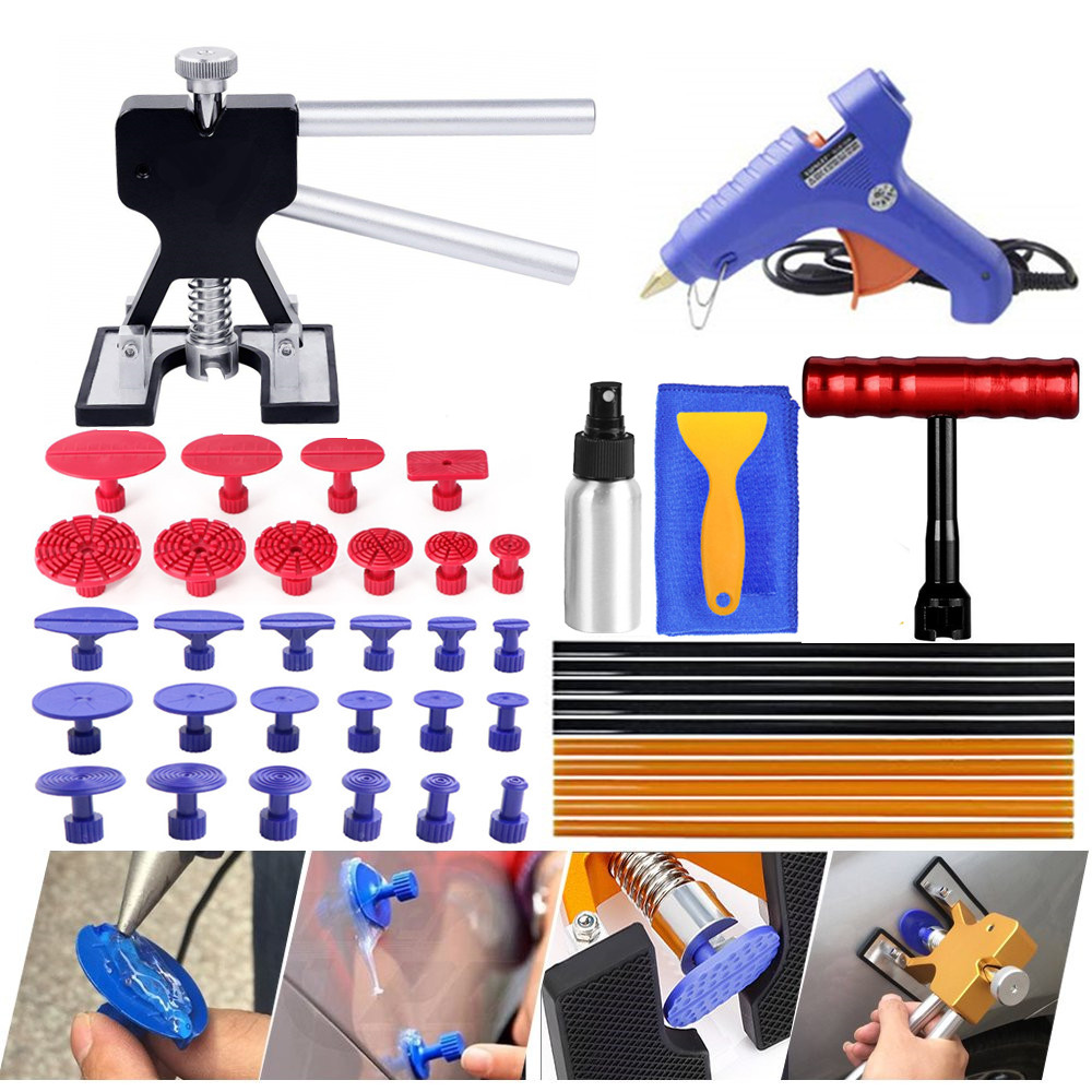 PDR Tools Automotive Body Dent Repair Tools Kit Puller Dent Lifter Melt Glue Gun Glue Sticks For Car Body Dent Repair Tools