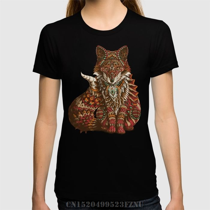 Spring summer Panic buying women's t shirt Red Fox Short Novelty Knitted tees homme Clothing