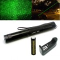 Laser 303 200mW Green Laser Pointer Adjustable Focal Length and Star Pattern Filter Laser Flashlight+ 4000MAH Battery+ charger