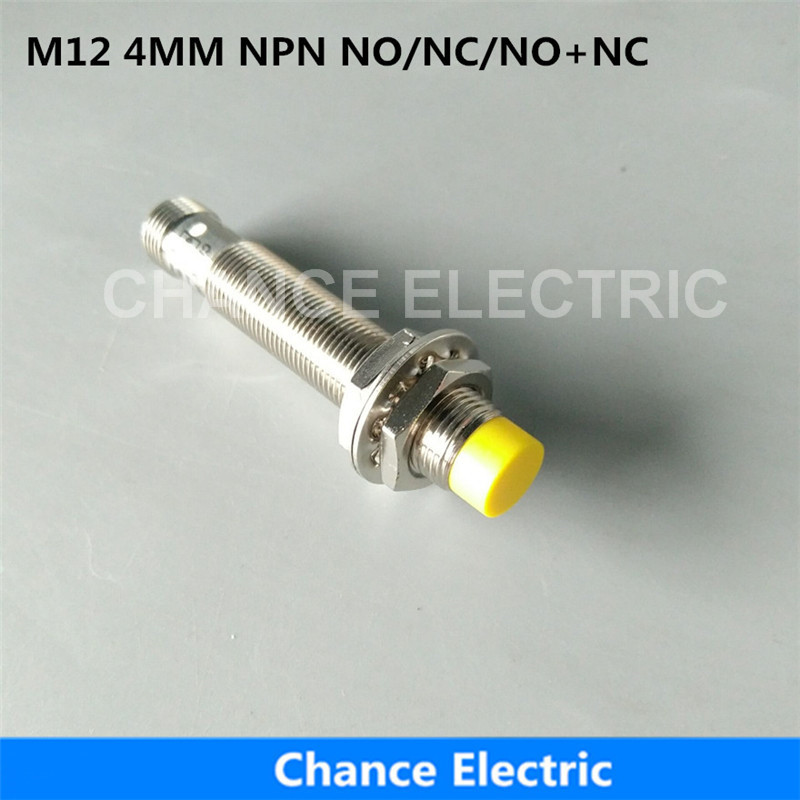 Inductive Proximity Sensor M12 4mm Distance NO/NC/NO+NC Half Sets Without Cable Switch Connector NPN dianqi magnet inductive proximity sensor hall sensor njk 5001c npn no magnetic switch induction proximity switch