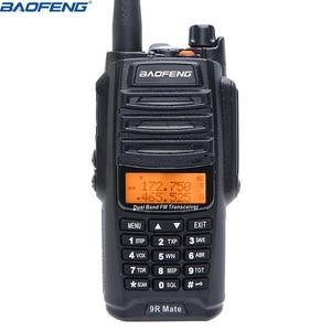 Image 2 - UV 9R زميله ترقية Baofeng UV 9R IP67 للماء الأشعة فوق البنفسجية المزدوج الفرقة 136 174/400 520 MHz هام Baofeng 10 W radio10 KM UV 9R combinatio