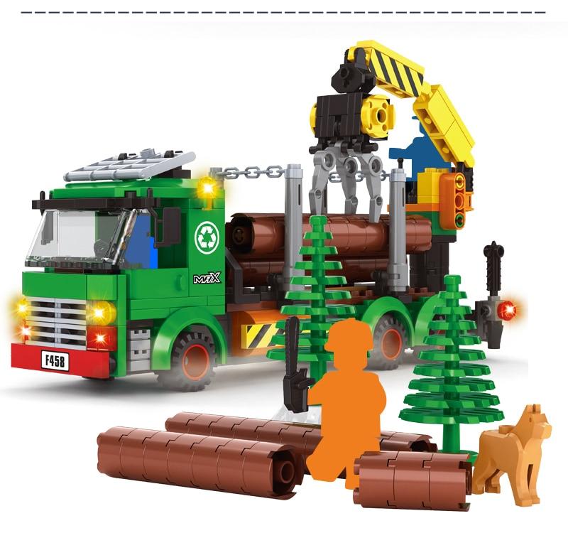 Ausini caminhões de registro carro construção cidade