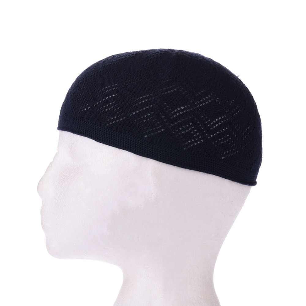 ผู้ชายมุสลิมหมวกแฟชั่นอิสลามหล่อ Headscarf เสื้อผ้าชาติพันธุ์อาหรับผู้ชายมุสลิมแฟชั่นอุปกรณ์เสริมโครเชต์อิสลาม