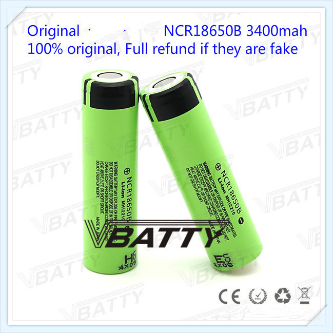 100% Original 3400mah NOT -protected <font><b>NCR18650B</b></font> 3.7V <font><b>18650</b></font> Lithium Rechargeable Battery For <font><b>Panasonic</b></font> batteries 1pc/lot image
