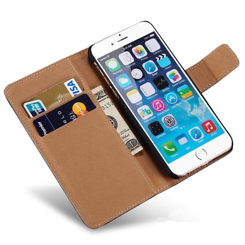 För iPhone 6-fodral Vintage Flip Wallet Style lyxig PU-läderfodral - Reservdelar och tillbehör för mobiltelefoner