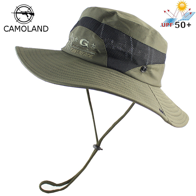 558012cd535 UPF 50+ Foldable Bucket Hat Men Women Boonie Hat Outdoor UV Protection Wide  Brim Military