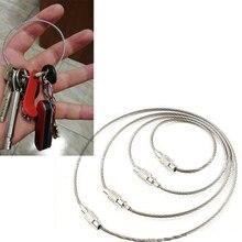 1 Набор EDC брелок тег веревка проволока из нержавеющей стали кабель петля винт устройство блокировки Кольцо Брелок Круг лагерь подвесной инструмент
