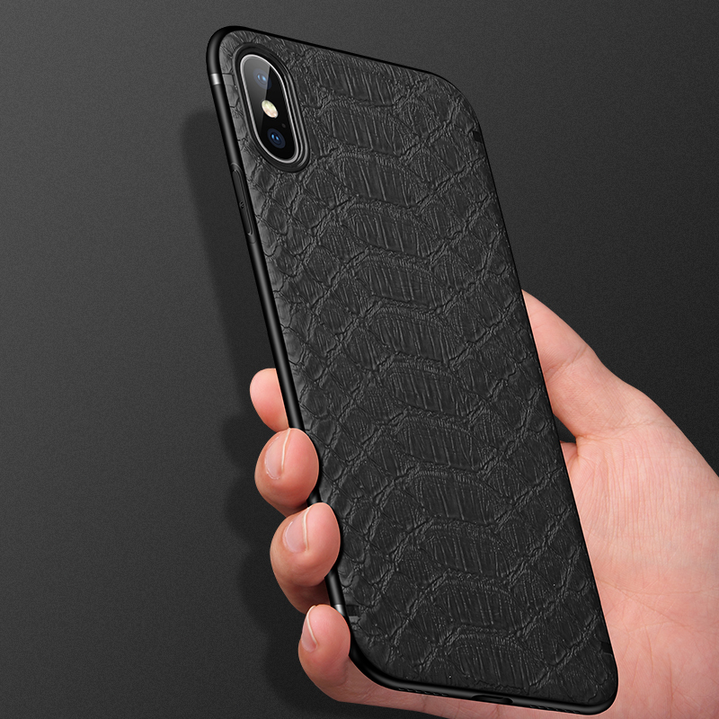 GTWIN Crocodile Texture Phone Shell With Magnetic for iPhone Models 4