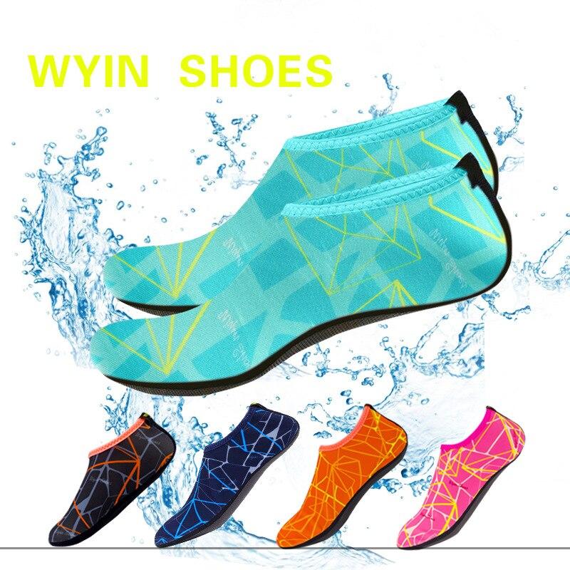 Anne ve Çocuk'ten Terlikler'de Hızlı kuruyan yüzmek su çocuk ayakkabı rahat ayakkabı yalınayak hafif Aqua çorap plaj havuzu karikatür çocuk terlik title=