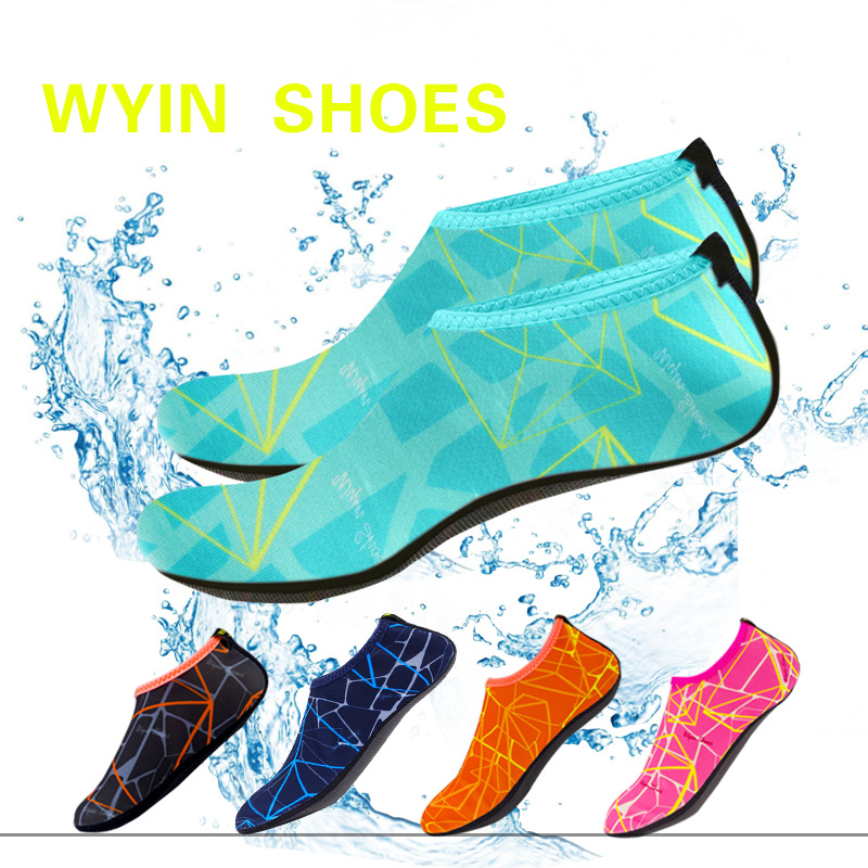 Quick Drying Swim Water Kids Shoes Casual Footwear Barefoot LightWeight Aqua Socks For Beach Pool Cartoon Children Slippers
