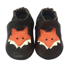 Cute Cartoon Fox Toddler Baby Batai Oda 0-24M Soft Bottom Baby Shoes Pirmasis Walkers rudenį