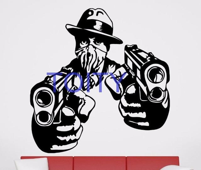 Gangsta Gangster Wall Room Decor Art Vinyl Sticker Mural Decal ...