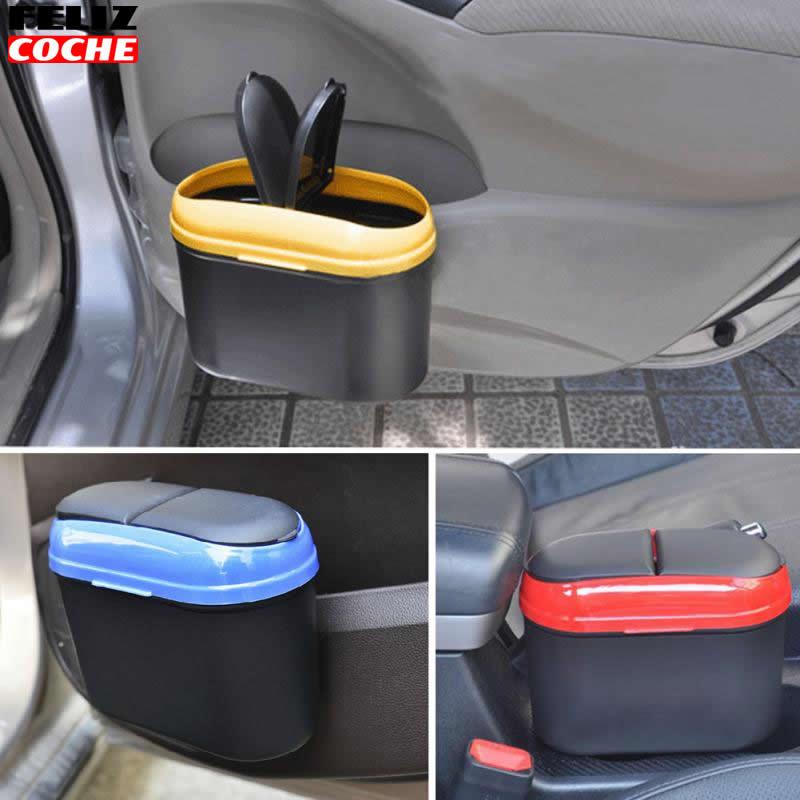 car trash bin mini car rubbish can garbage storage trash bin holder trash can mini auto portable. Black Bedroom Furniture Sets. Home Design Ideas
