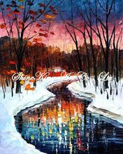 palette knife oil painting  modern oil painting canvas oil painting  K291