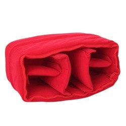 ETC-NEW Stoßfest DSLR SLR Kamera Tasche Partition Gepolsterte Kamera Einsatz, Machen Ihre Eigenen Kamera Tasche (Rot)
