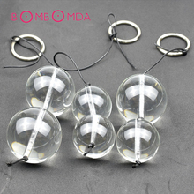 Glass Anal Beads Plug Crystal Vaginal Anal Masturbation Balls Butt Plug Massager  Anal Sex Toys for Women Gay Adult Sex Products