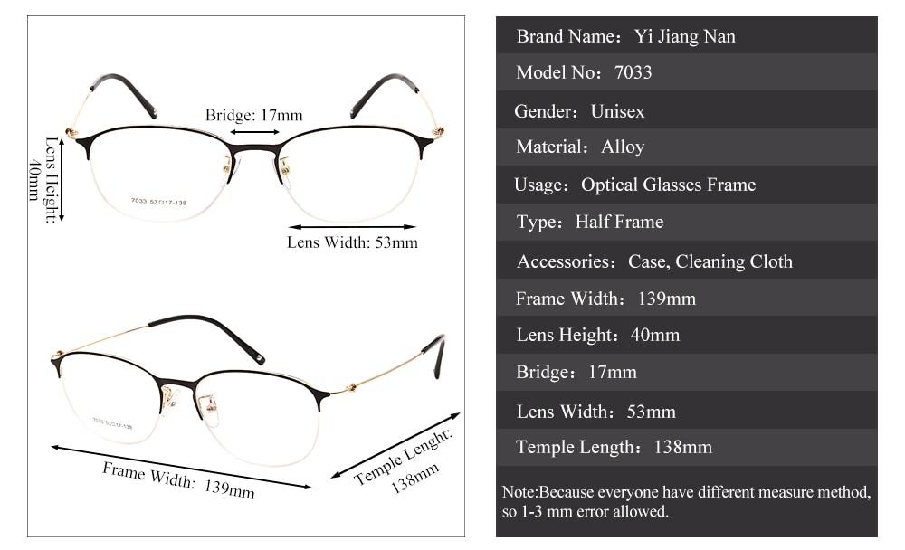 47d69b6c4e Yi Jiang Nan Brand Vintage Round Super Light Brand Designer Eyeglasses  Frame Fashion Women Eyeglasses Men Spectacles Frames
